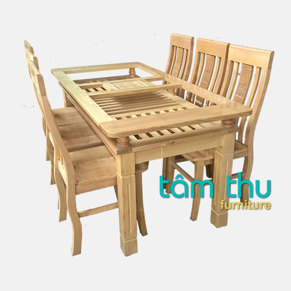 bàn ghế ăn gỗ ms 1