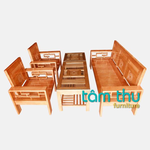 bàn ghế gỗ phòng khách ms 1