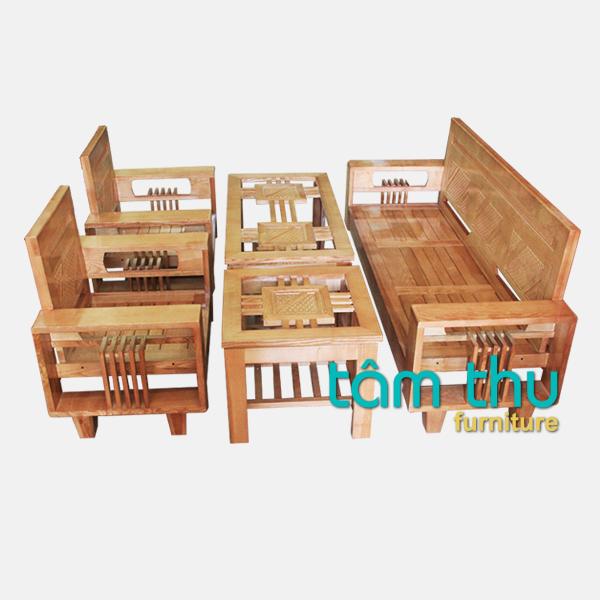 bàn ghế gỗ phòng khách ms 2