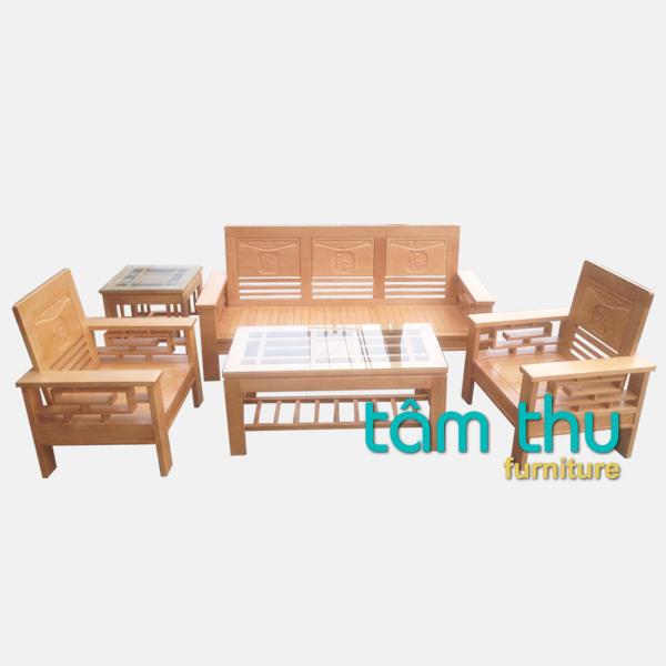 bàn ghế gỗ phòng khách ms 4