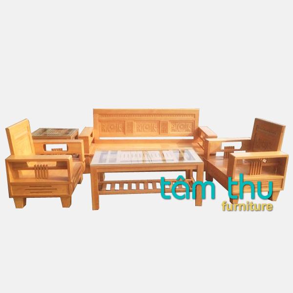 bàn ghế gỗ phòng khách ms 5