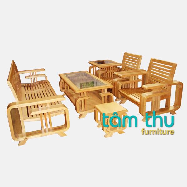bàn ghế gỗ phòng khách ms 6