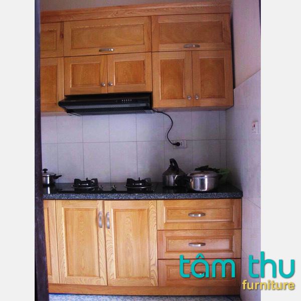 tủ bếp gỗ sồi ms-1