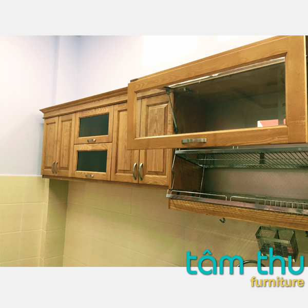tủ bếp gỗ sồi ms-2a
