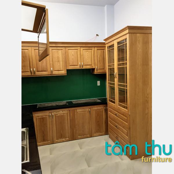 tủ bếp gỗ sồi ms-2b