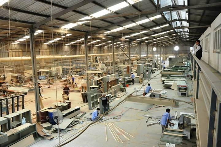 Xưởng sản xuất gỗ công nghiệp