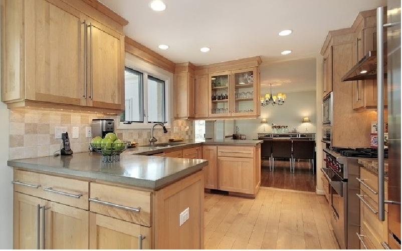 Tủ bếp gỗ tần bì đơn giản