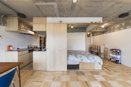 Bố trí tủ bếp gỗ tận dụng khôn gian