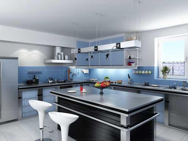Khu đảo bếp khoa học