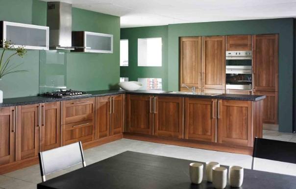 Tủ bếp gỗ chữ L