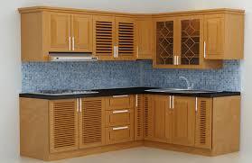 Mẫu tủ bếp gỗ xoan đào đơn giản