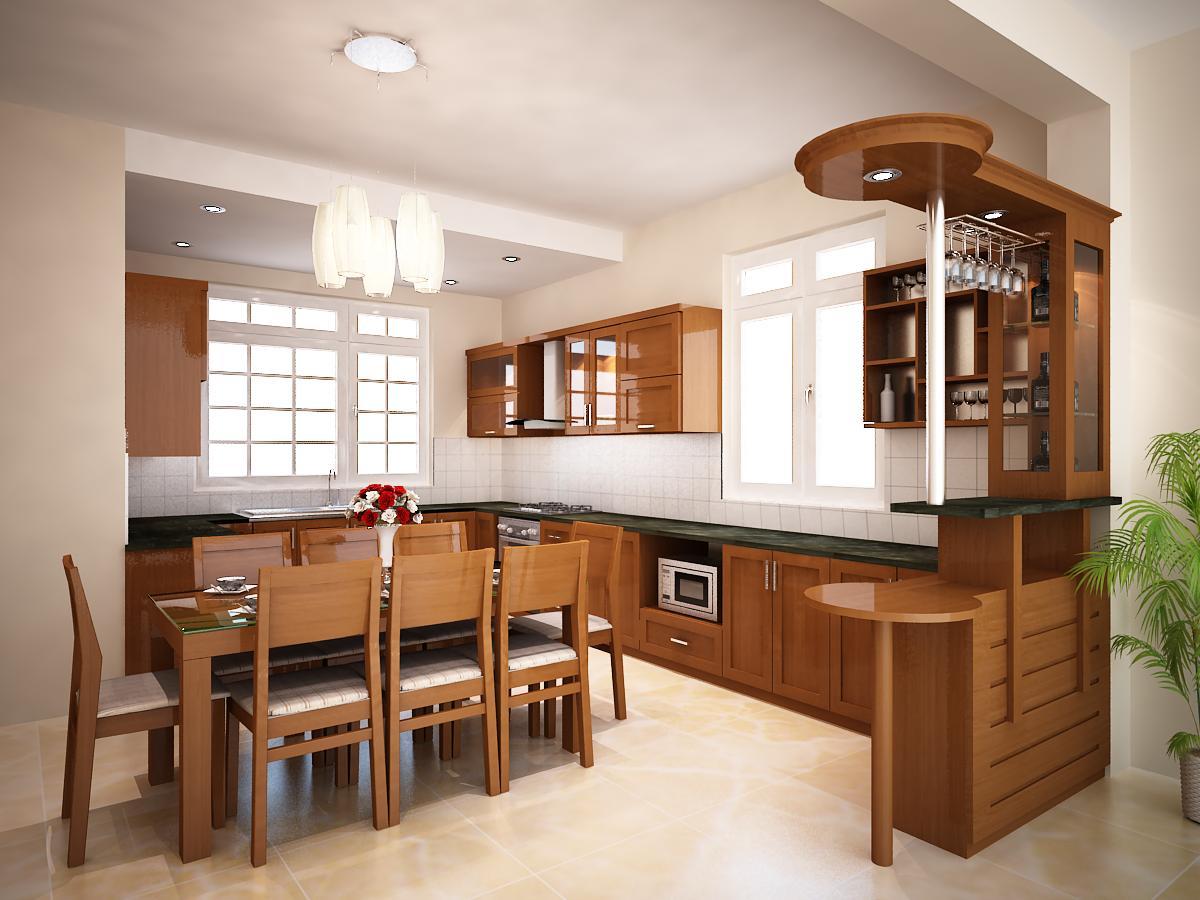 Tủ bếp gỗ xoan đào ta sang trọng